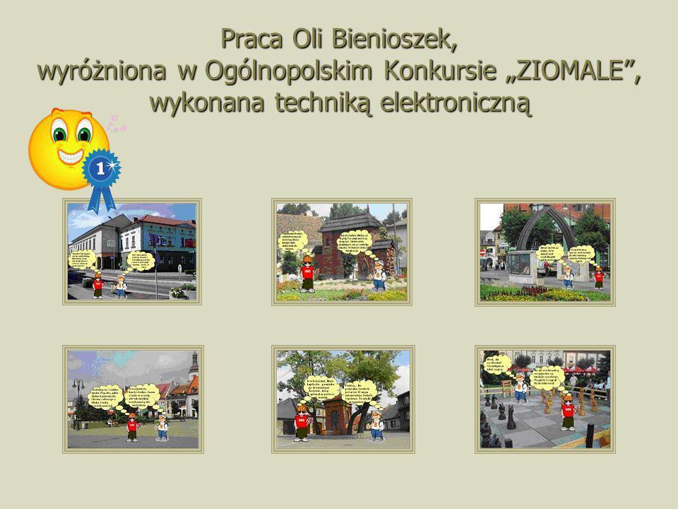 Praca Oli Bienioszek, wyróżniona w Ogólnopolskim Konkursie ZIOMALE, wykonana techniką elektroniczną
