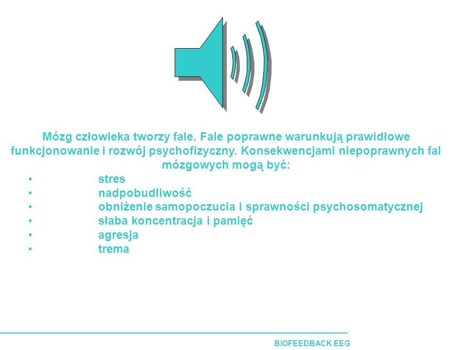 BIOFEEDBACK EEG Mózg człowieka tworzy fale.