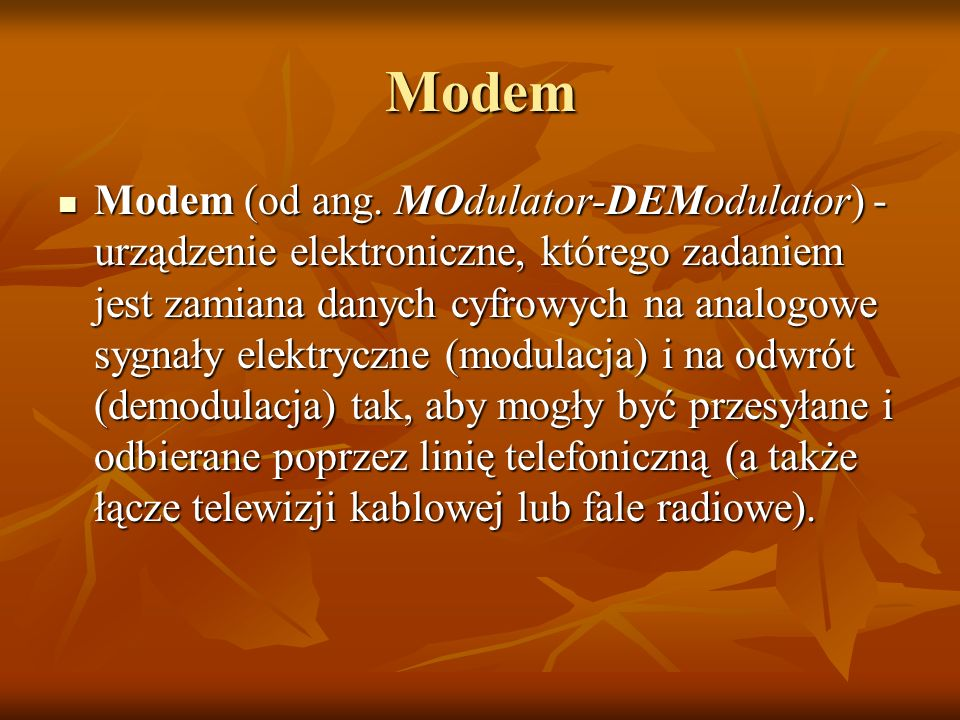 Modem Modem (od ang.