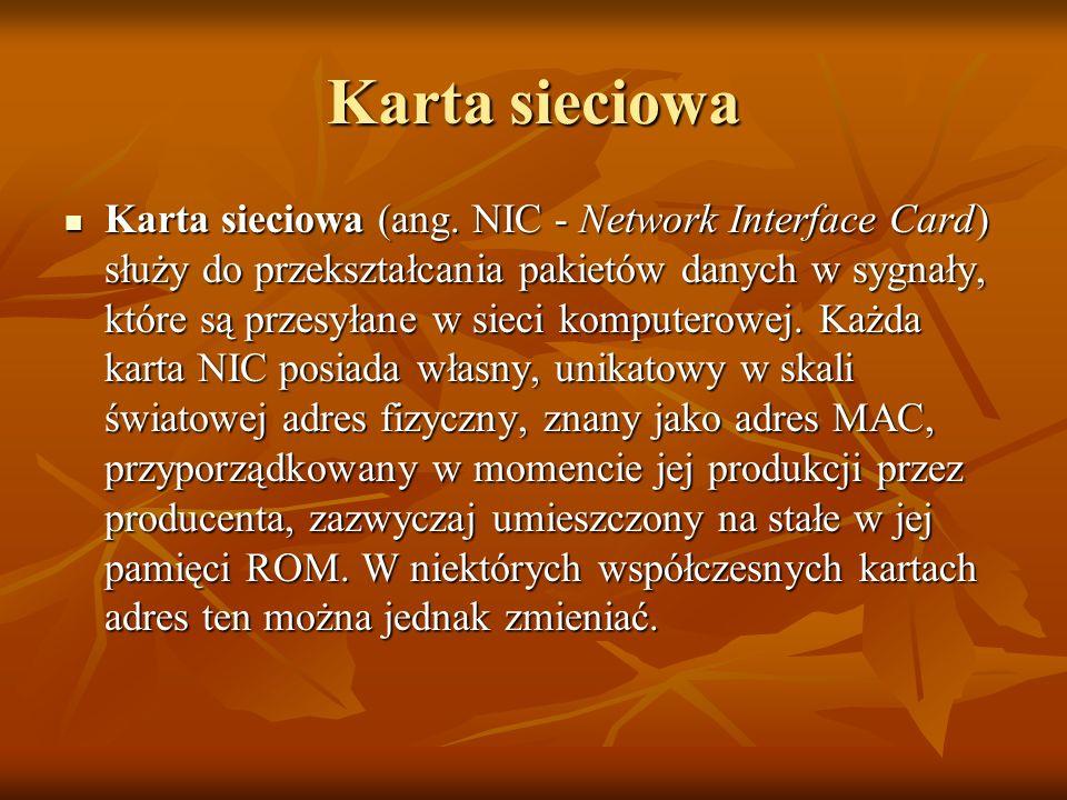 Karta sieciowa Karta sieciowa (ang.