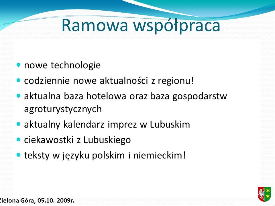Ramowa współpraca nowe technologie codziennie nowe aktualności z regionu.