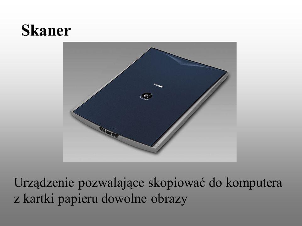 Skaner Urządzenie pozwalające skopiować do komputera z kartki papieru dowolne obrazy