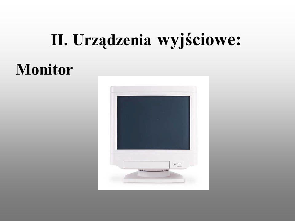 II. Urządzenia wyjściowe: Monitor