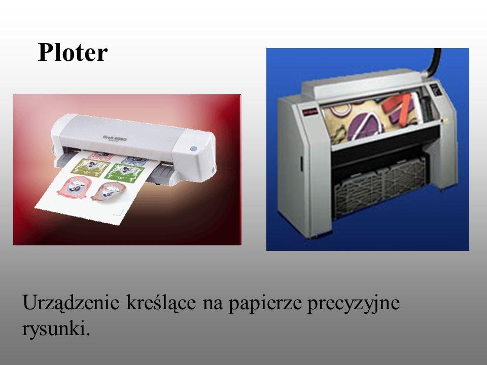 Ploter Urządzenie kreślące na papierze precyzyjne rysunki.