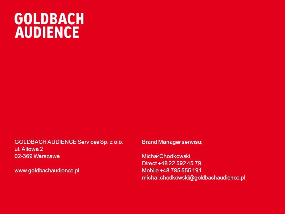 GOLDBACH AUDIENCE Services Sp.z o.o. ul.
