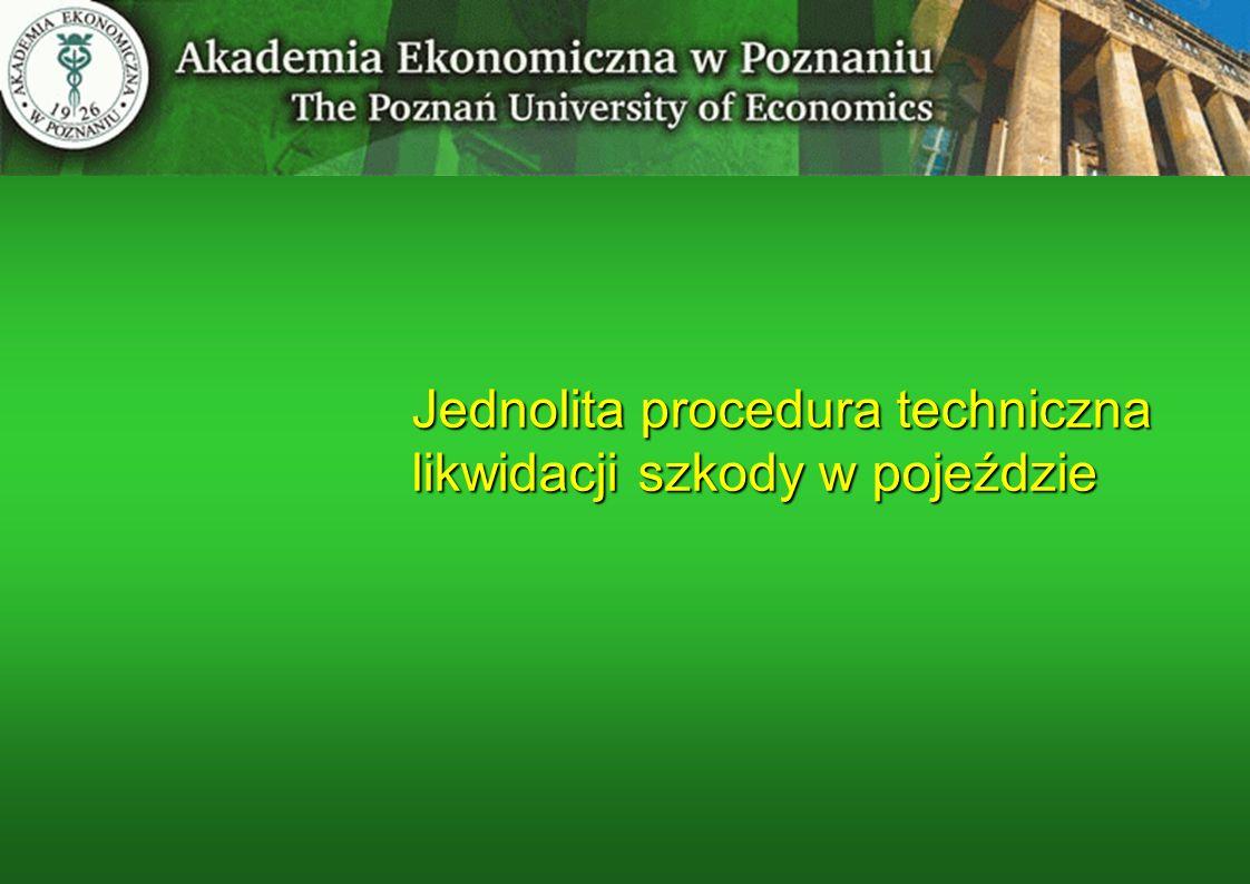 Jednolita procedura techniczna likwidacji szkody w pojeździe