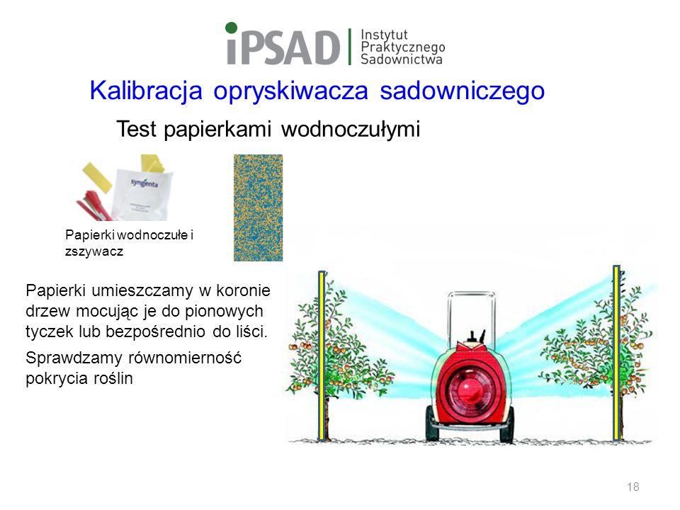 Safe Use Initiative Papierki wodnoczułe i zszywacz Test papierkami wodnoczułymi 18 Papierki umieszczamy w koronie drzew mocując je do pionowych tyczek lub bezpośrednio do liści.