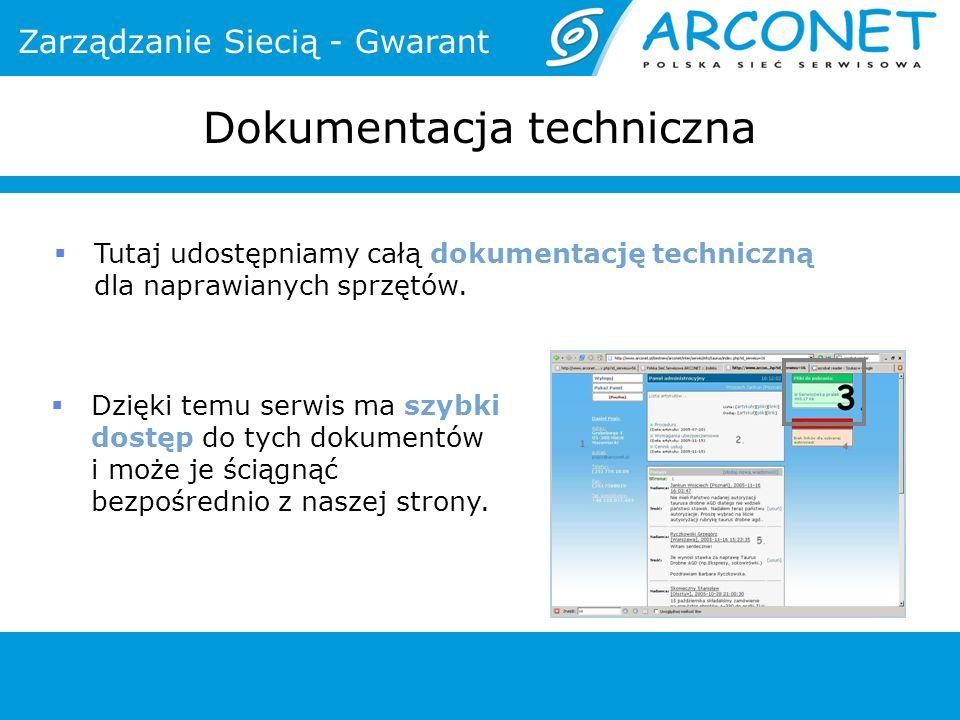 Dokumentacja techniczna Tutaj udostępniamy całą dokumentację techniczną dla naprawianych sprzętów. Dzięki temu serwis ma szybki dostęp do tych dokumen