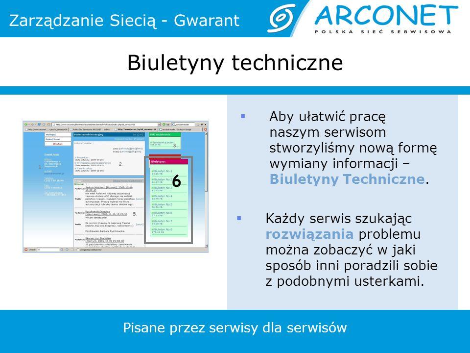 Aby ułatwić pracę naszym serwisom stworzyliśmy nową formę wymiany informacji – Biuletyny Techniczne.