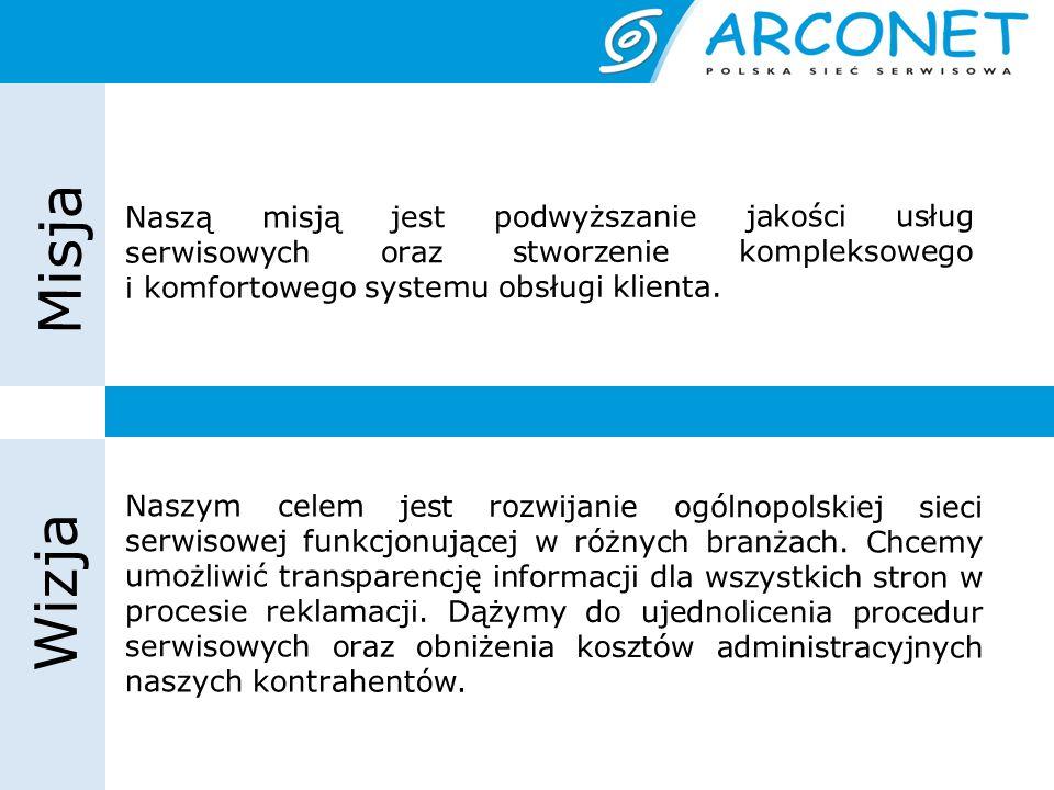 Nasze osiągnięcia Ponad 300 serwisów na terenie całej Polski 70 marek 5 sieci handlowych Ograniczenie kosztów serwisowych o 10-20% Stworzenie ogólnobranżowego systemu raportowego