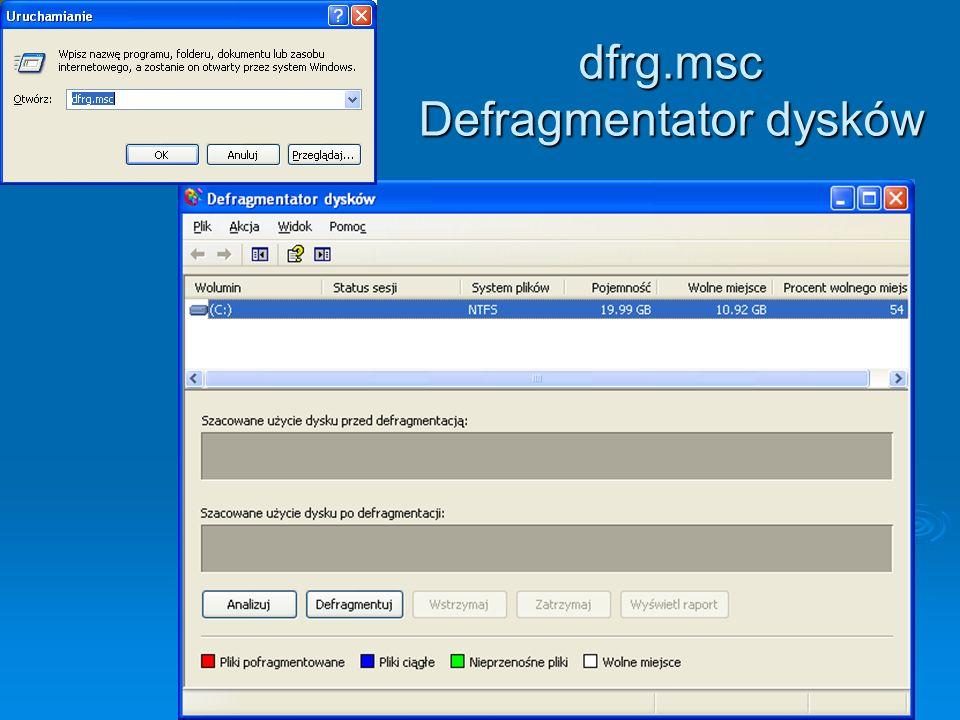 dfrg.msc Defragmentator dysków