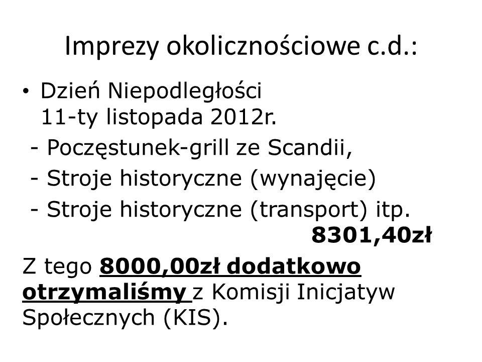 Imprezy okolicznościowe c.d.: Dzień Niepodległości 11-ty listopada 2012r.