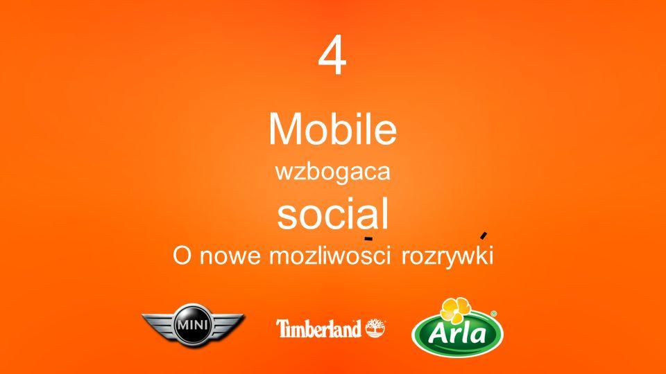 4 Mobile wzbogaca social O nowe mozliwosci rozrywki