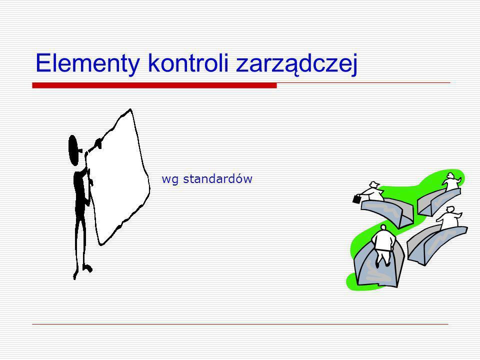 Elementy kontroli zarządczej wg standardów