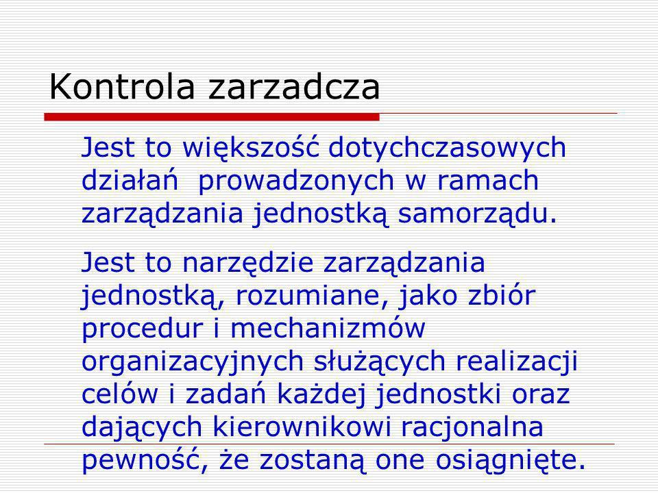 Standardy kontroli zarządczej Minister Finansów wydał 16.12.2009r.
