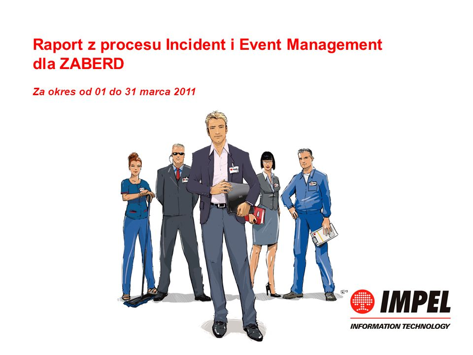 Raport z procesu Incident i Event Management dla ZABERD Za okres od 01 do 31 marca 2011