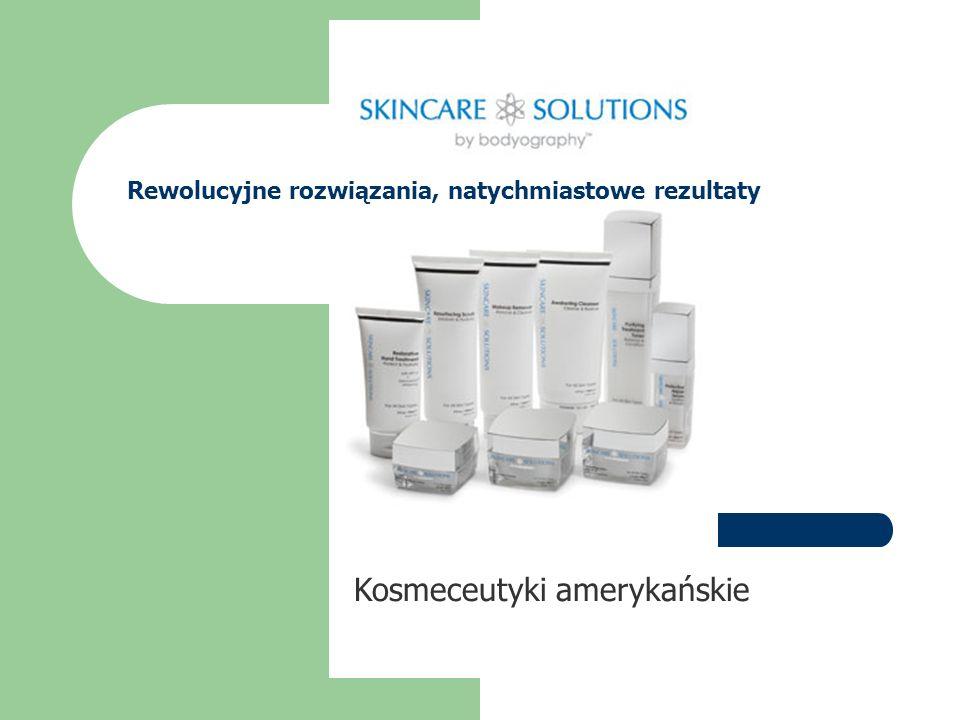Kosmeceutyki amerykańskie Rewolucyjne rozwiązania, natychmiastowe rezultaty