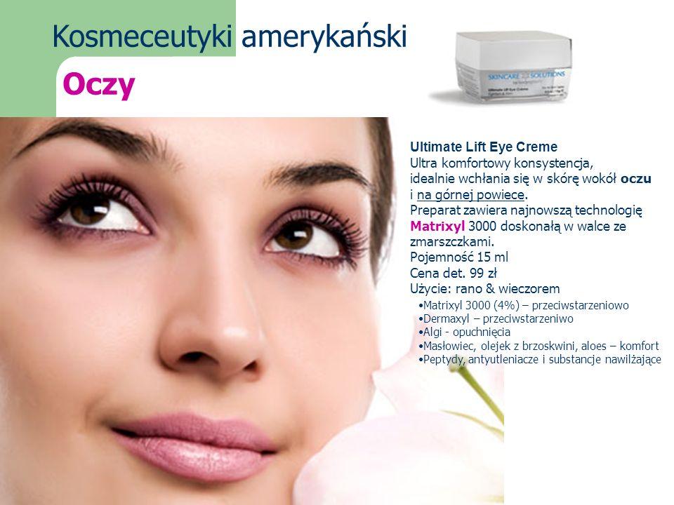 Kosmeceutyki amerykańskie Oczy Ultimate Lift Eye Creme Ultra komfortowy konsystencja, idealnie wchłania się w skórę wokół oczu i na górnej powiece. Pr