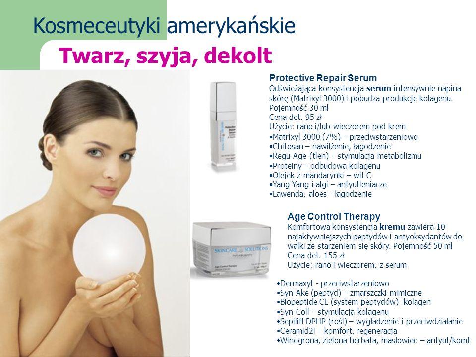 Kosmeceutyki amerykańskie Protective Repair Serum Odświeżająca konsystencja serum intensywnie napina skórę (Matrixyl 3000) i pobudza produkcje kolagen