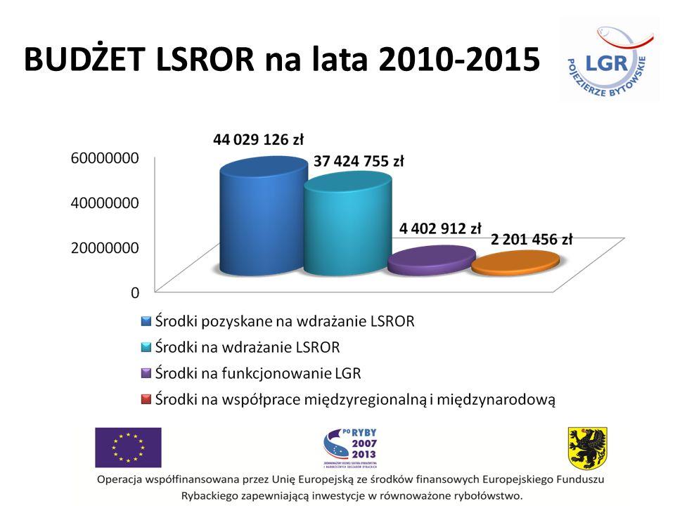 BUDŻET LSROR na lata 2010-2015