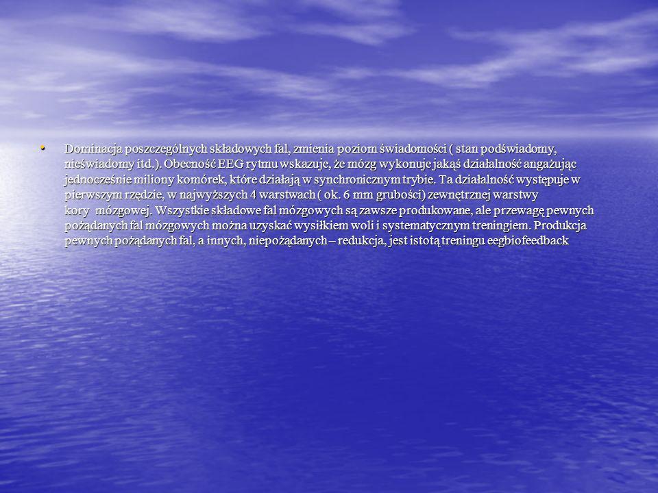 Pasmo Theta (4-8) Hz. Pasmo Theta (4-8) Hz. Theta leży bezpośrednio na progu podświadomości. W Biofeedback, kojarzone z najgłębszym poziomem medytacji