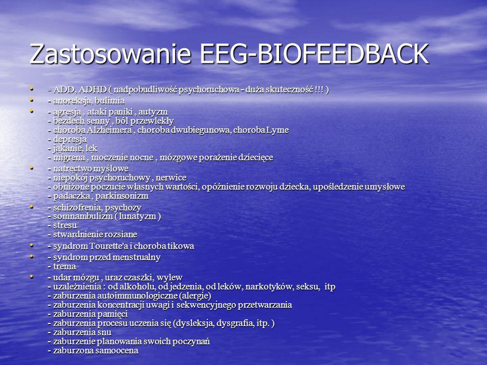 Obecnie w Ameryce i Europie Zachodniej jest ona bardzo popularna. Aparaty EEG Neurobiofeedback wykorzystywane są do wspomagania leczenia w klinikach,
