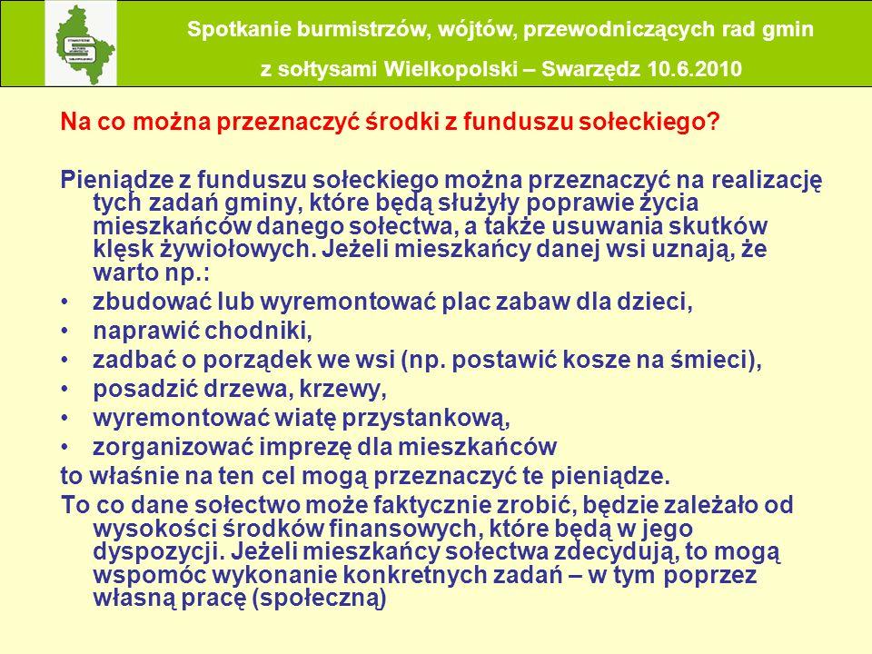 Jakie korzyści będzie miała gmina z utworzenia funduszu sołeckiego.