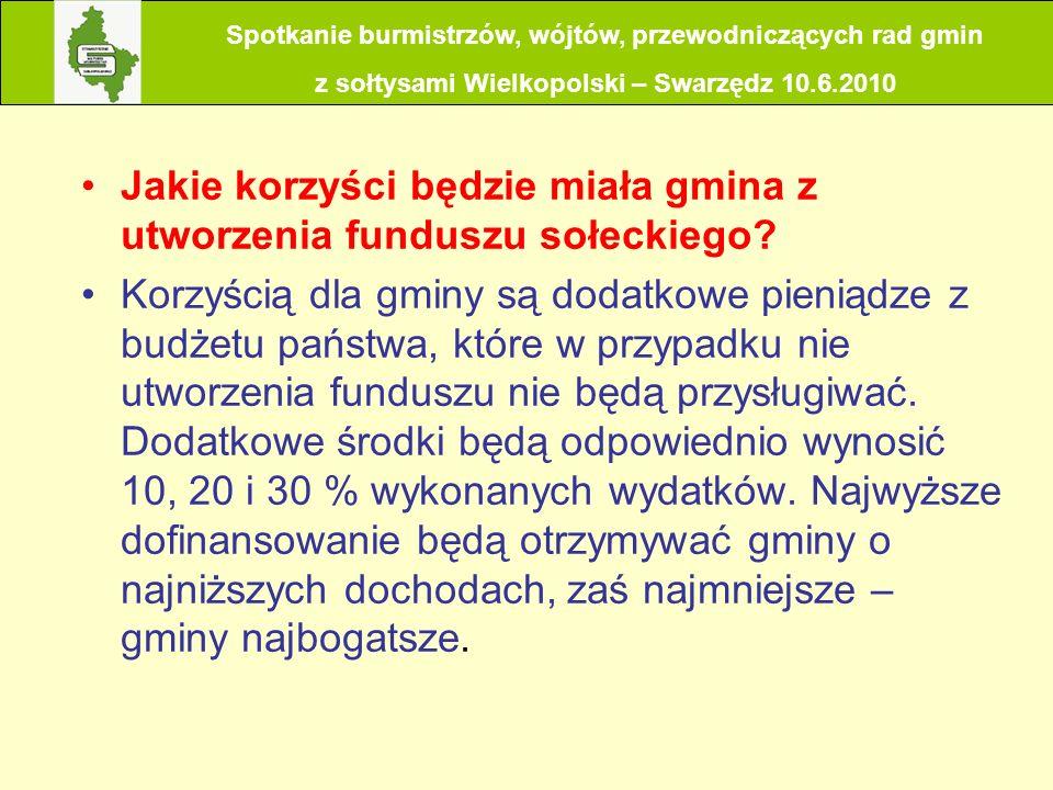 Spotkanie burmistrzów, wójtów, przewodniczących rad gmin z sołtysami Wielkopolski – Swarzędz 10.6.2010