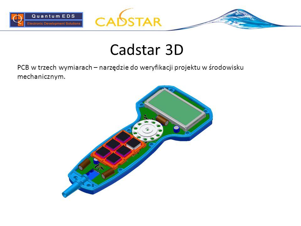 Cadstar 3D PCB w trzech wymiarach – narzędzie do weryfikacji projektu w środowisku mechanicznym.