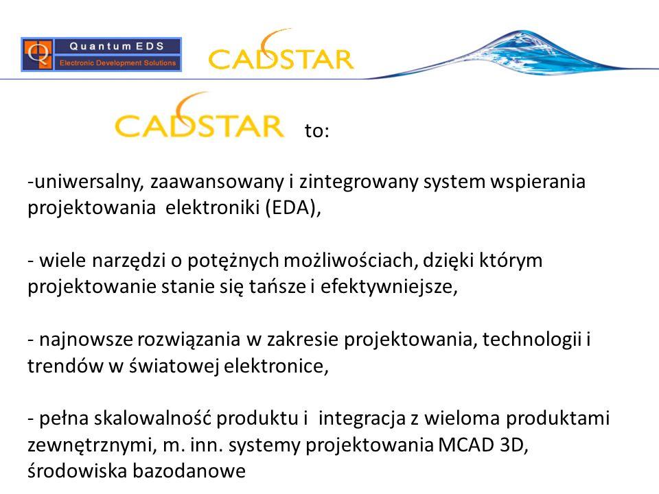 -uniwersalny, zaawansowany i zintegrowany system wspierania projektowania elektroniki (EDA), - wiele narzędzi o potężnych możliwościach, dzięki którym