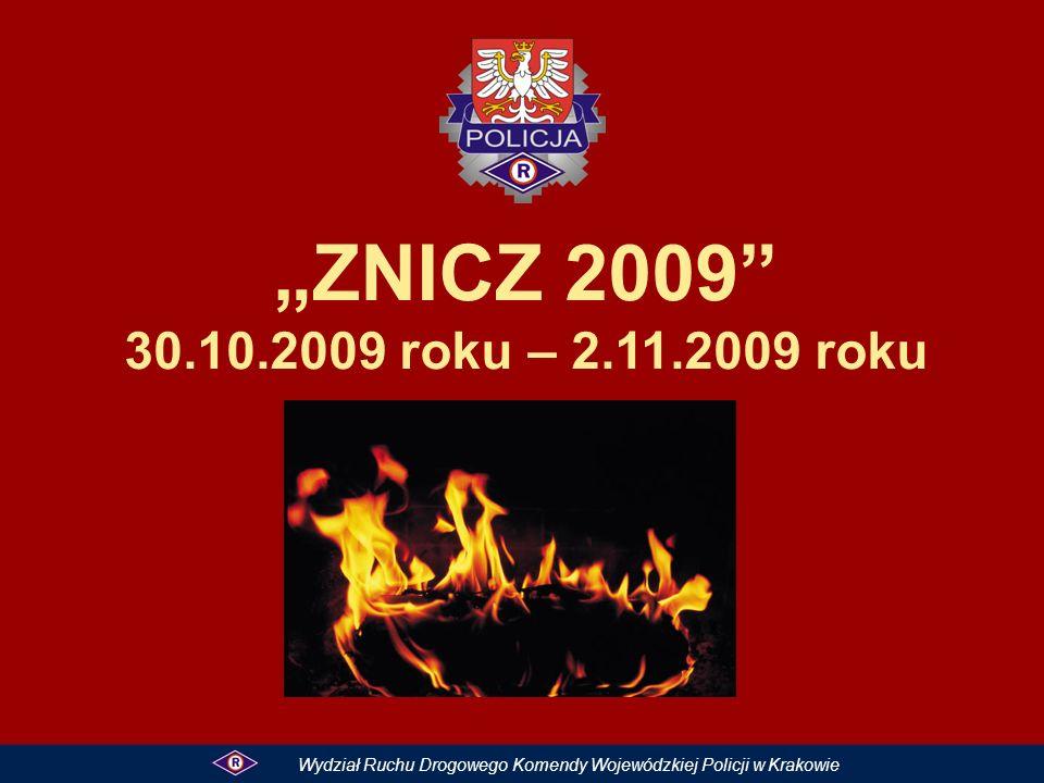ZNICZ 2009 30.10.2009 roku – 2.11.2009 roku Wydział Ruchu Drogowego Komendy Wojewódzkiej Policji w Krakowie