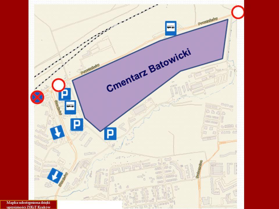 Mapka udostępniona dzięki uprzejmości ZIKiT Kraków
