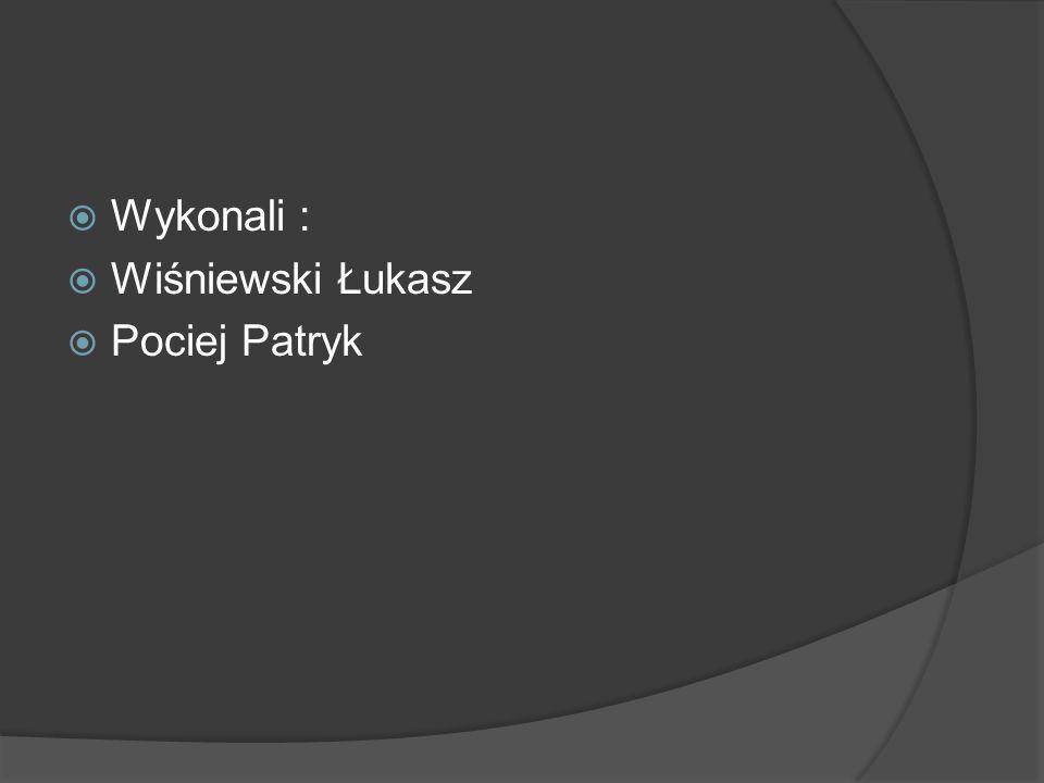 Wykonali : Wiśniewski Łukasz Pociej Patryk