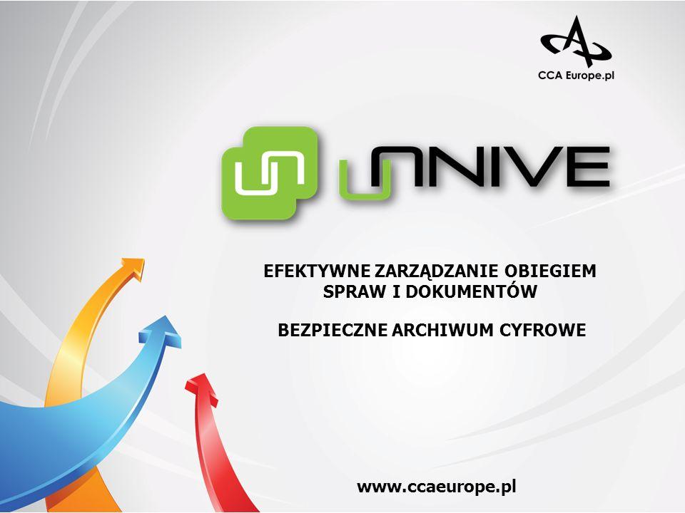 CCA UNIVE – omówienie systemu Procesy typowe Platforma integracyjna Korzyści z wdrożenia Archivos – cyfrowe archiwum Dlaczego warto nam zaufać.