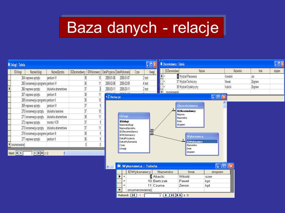 Baza danych - relacje