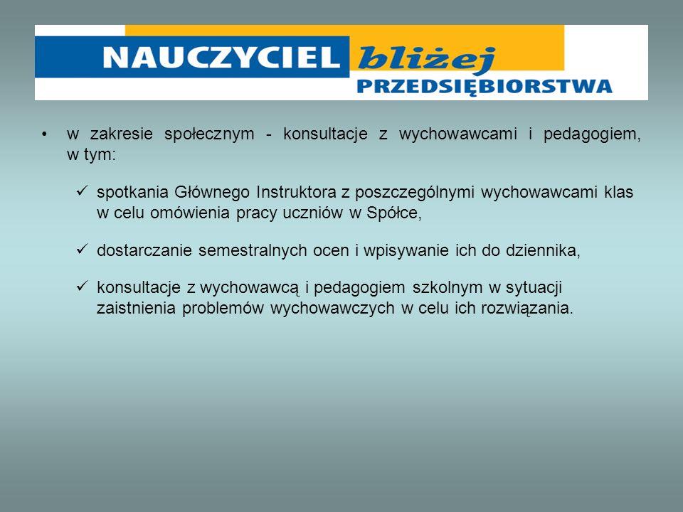 4.Organizacja praktycznej nauki zawodu Koordynatorem praktycznej nauki zawodu w WAGREM sp.