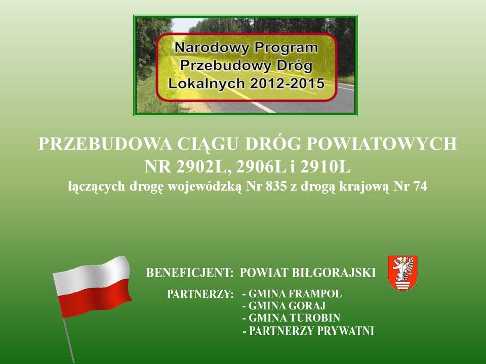 2012 ROK Remont drogi powiatowej Nr 2925L Korytków Duży – Ujście w km 0+048 ÷ 12+252 dł. 12204mb
