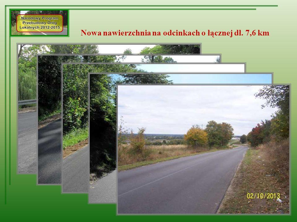 Nowa nawierzchnia na odcinkach o łącznej dł. 7,6 km