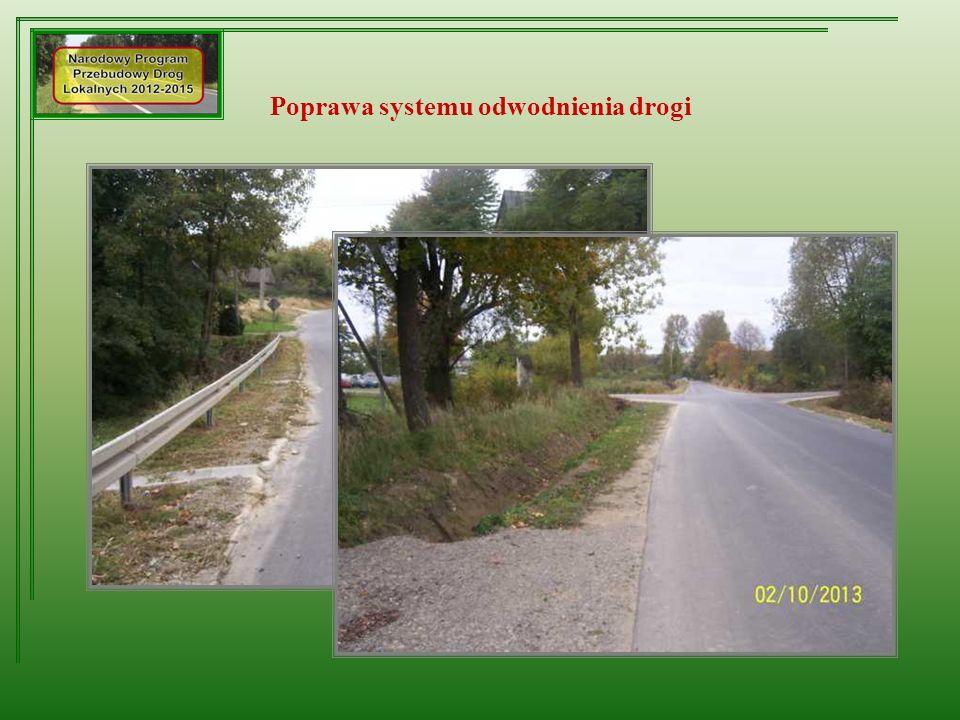 Poprawa systemu odwodnienia drogi