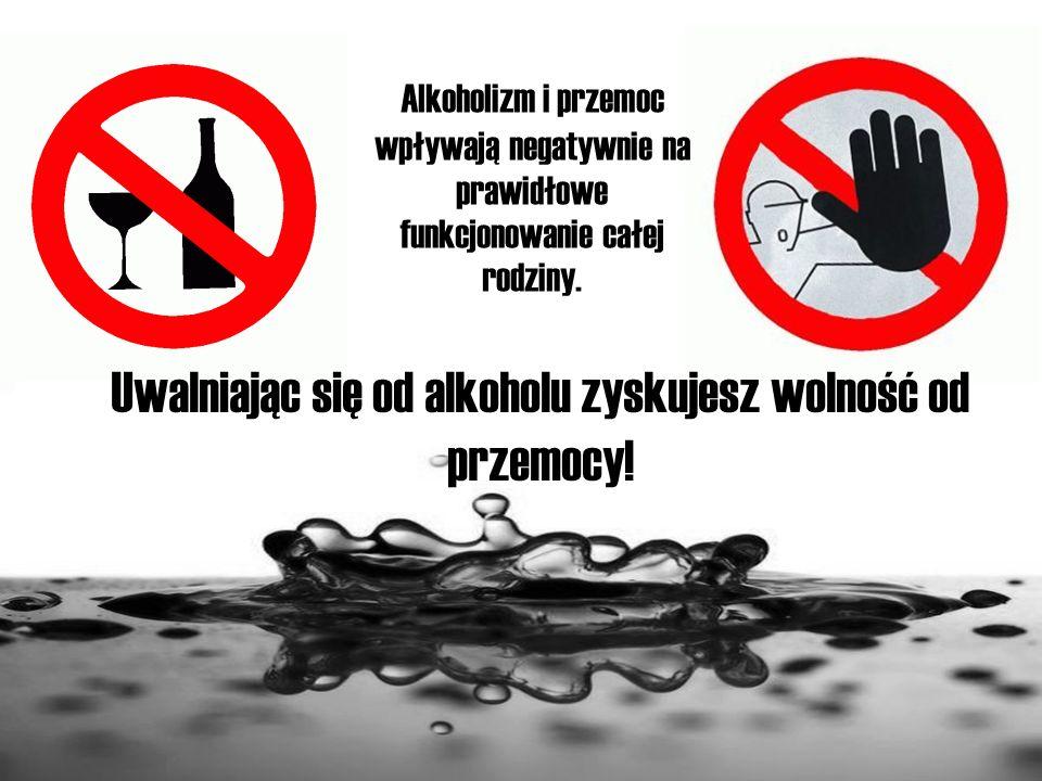 Alkoholizm i przemoc wpływają negatywnie na prawidłowe funkcjonowanie całej rodziny. Uwalniając się od alkoholu zyskujesz wolność od przemocy!
