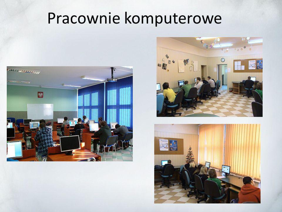 Szkoła posiada dobrze wyposażone Szkoła posiada dobrze wyposażone pracownie specjalistyczne, 3 pracownie komputerowe, 4 pracownie językowe w tym jedna