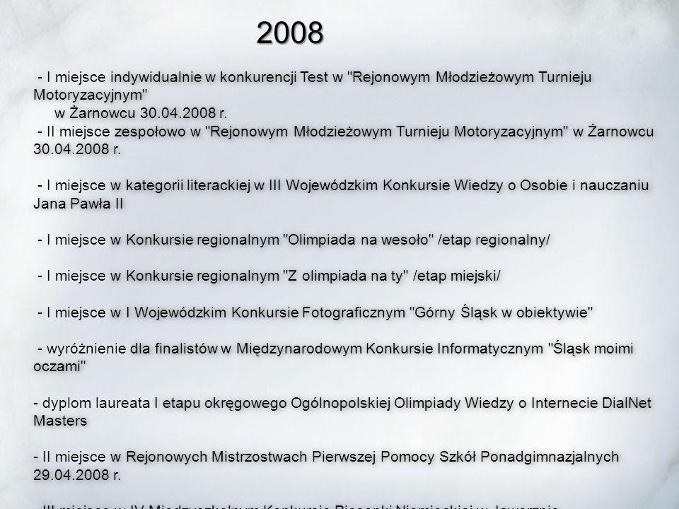 Uczniowie Zespołu Szkół Ponadgimnazjalnych Nr 1 w Mysłowicach prezentują swoją wiedzę i umiejętności na, od szczebla miejskiego, poprzez etap rejonowy