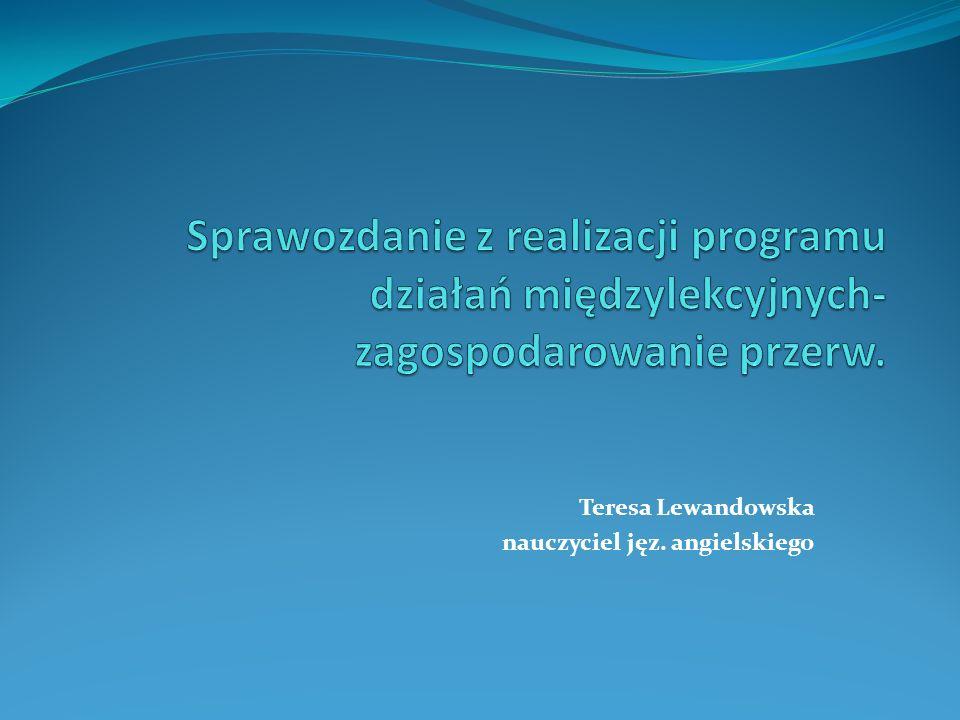 Teresa Lewandowska nauczyciel jęz. angielskiego