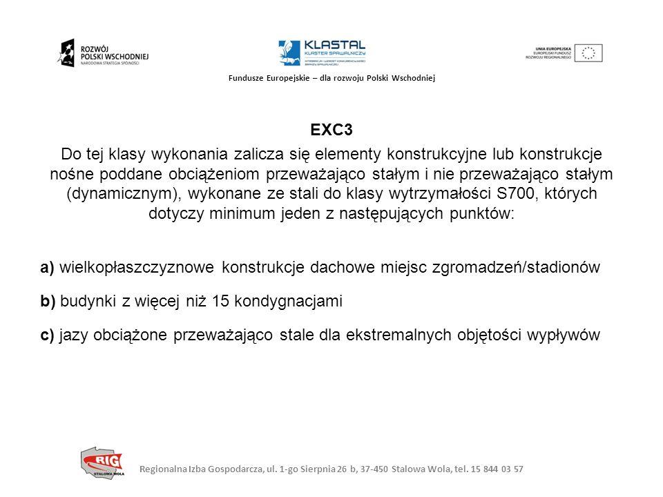 Regionalna Izba Gospodarcza, ul. 1-go Sierpnia 26 b, 37-450 Stalowa Wola, tel. 15 844 03 57 Fundusze Europejskie – dla rozwoju Polski Wschodniej EXC3