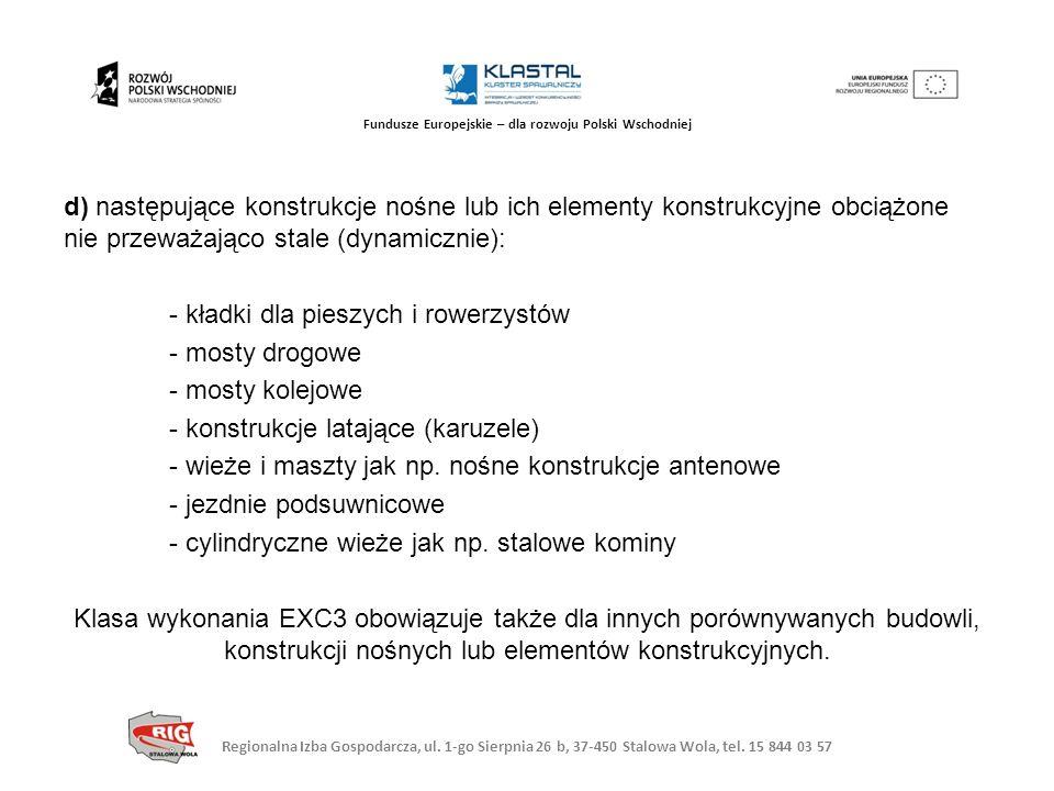 Regionalna Izba Gospodarcza, ul. 1-go Sierpnia 26 b, 37-450 Stalowa Wola, tel. 15 844 03 57 Fundusze Europejskie – dla rozwoju Polski Wschodniej d) na