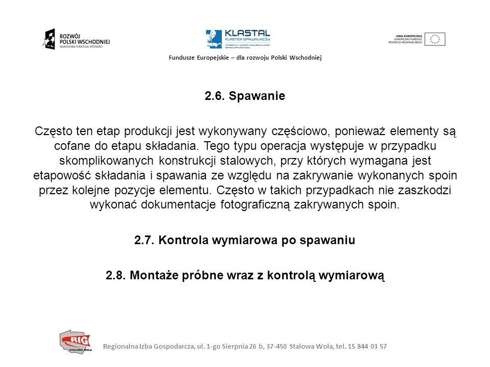 Regionalna Izba Gospodarcza, ul. 1-go Sierpnia 26 b, 37-450 Stalowa Wola, tel. 15 844 03 57 Fundusze Europejskie – dla rozwoju Polski Wschodniej 2.6.