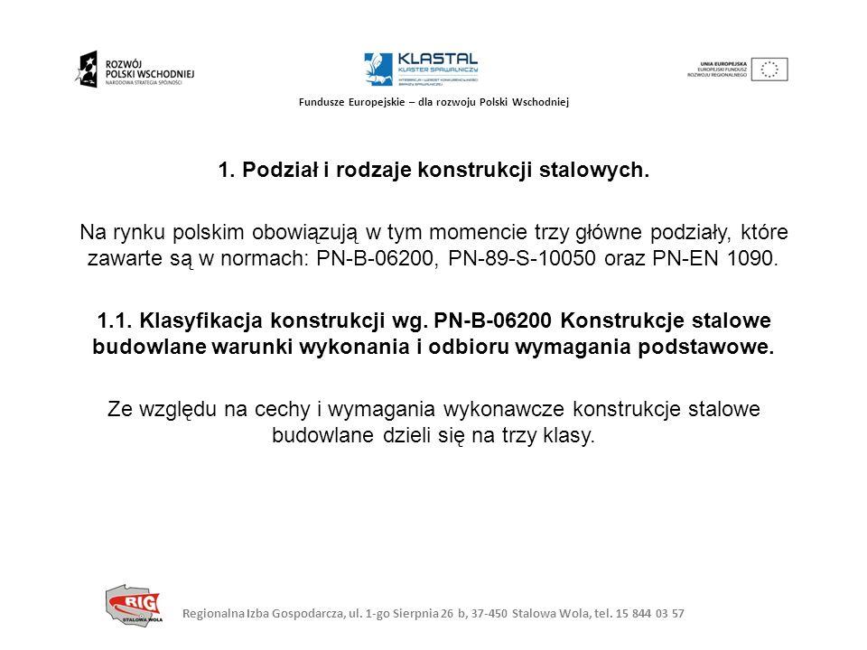 Fundusze Europejskie – dla rozwoju Polski Wschodniej 1. Podział i rodzaje konstrukcji stalowych. Na rynku polskim obowiązują w tym momencie trzy główn