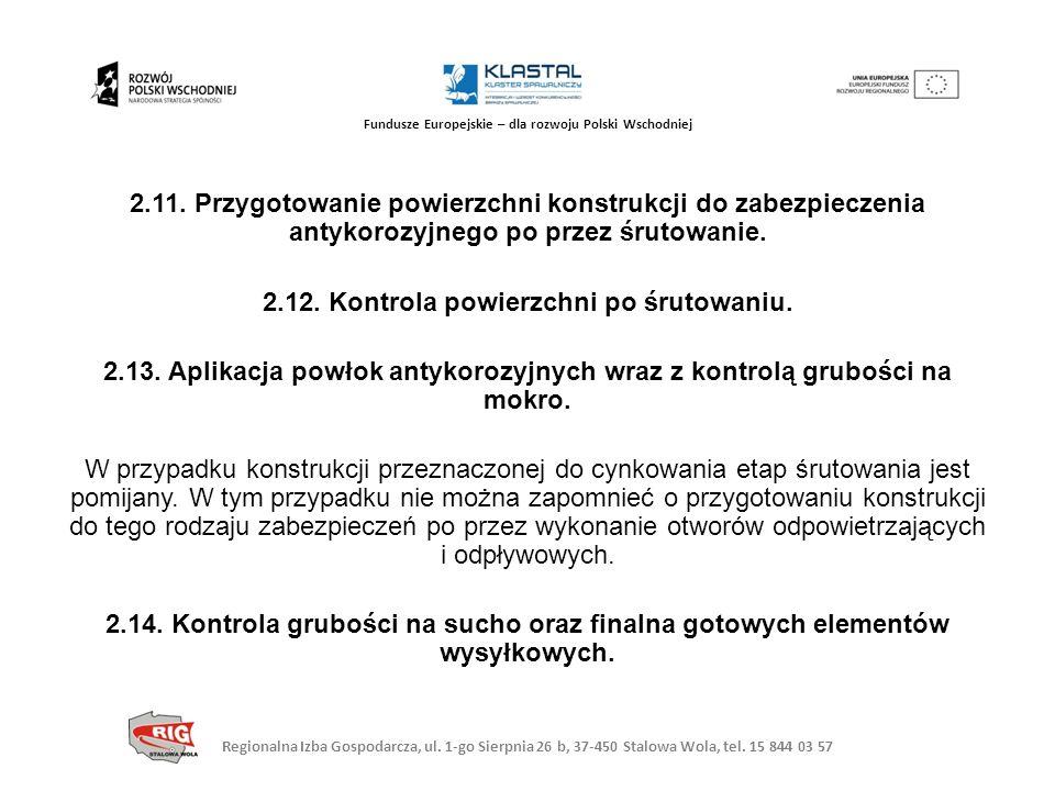 Regionalna Izba Gospodarcza, ul. 1-go Sierpnia 26 b, 37-450 Stalowa Wola, tel. 15 844 03 57 Fundusze Europejskie – dla rozwoju Polski Wschodniej 2.11.