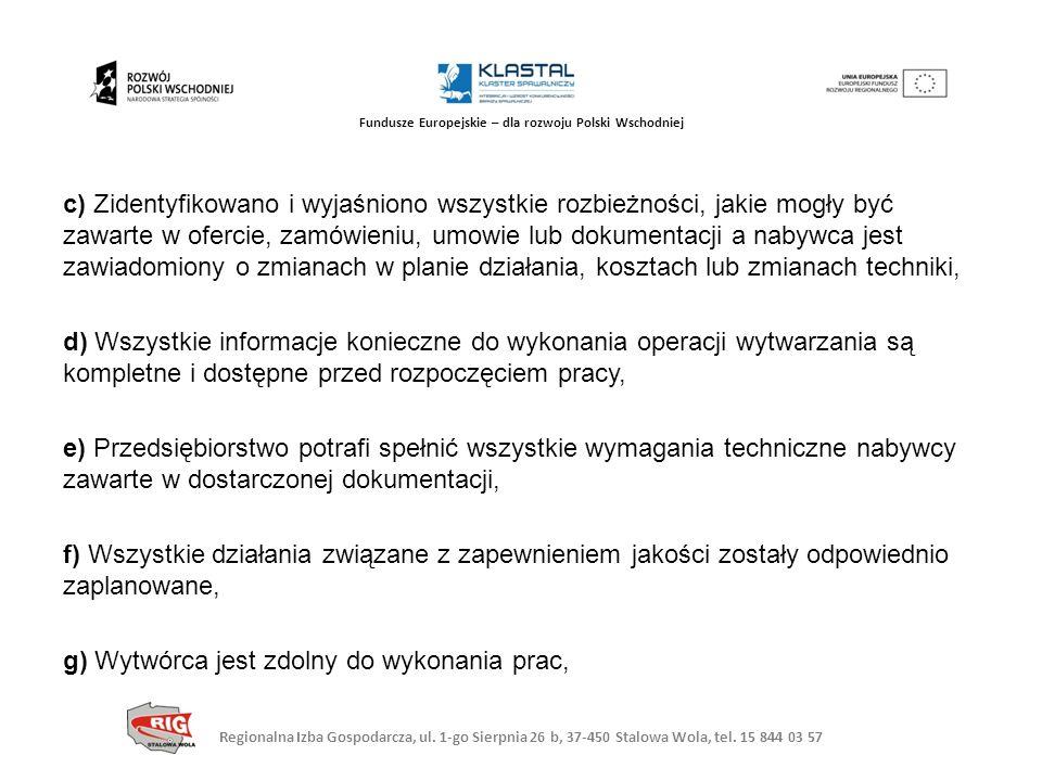 Regionalna Izba Gospodarcza, ul. 1-go Sierpnia 26 b, 37-450 Stalowa Wola, tel. 15 844 03 57 Fundusze Europejskie – dla rozwoju Polski Wschodniej c) Zi