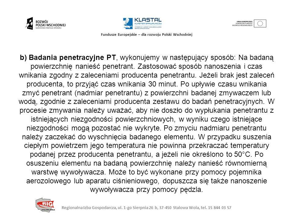Regionalna Izba Gospodarcza, ul. 1-go Sierpnia 26 b, 37-450 Stalowa Wola, tel. 15 844 03 57 Fundusze Europejskie – dla rozwoju Polski Wschodniej b) Ba